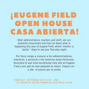 Open House at Eugene field